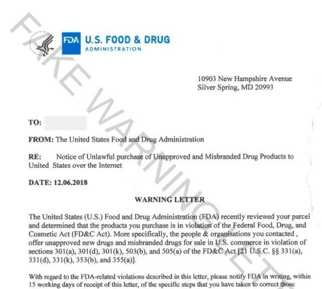FDA Warning Letters and Test Results for Cannabidiol-Related Products