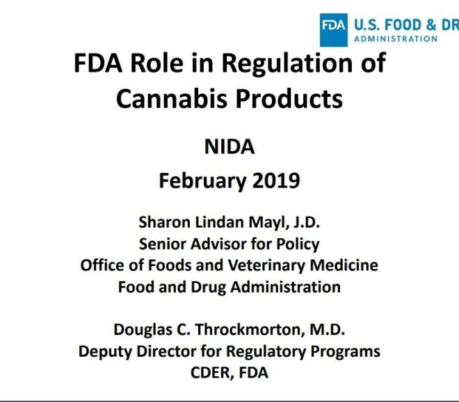 FDA Role in Regulation of Cannabis Products – Free Powerpoint Download