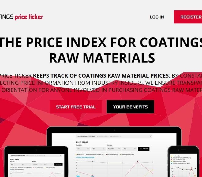 THE PRICE INDEX FOR COATINGS RAW MATERIALS