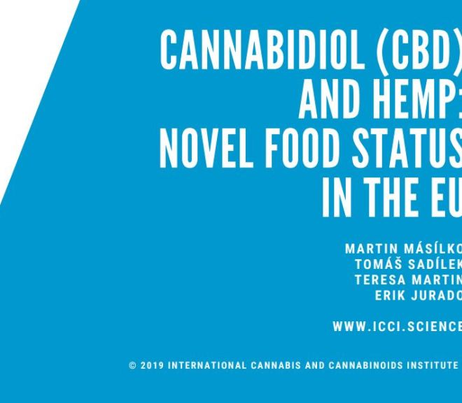 CANNABIDIOL (CBD) AND HEMP: NOVEL FOOD STATUS IN THE EU – Free PDF download