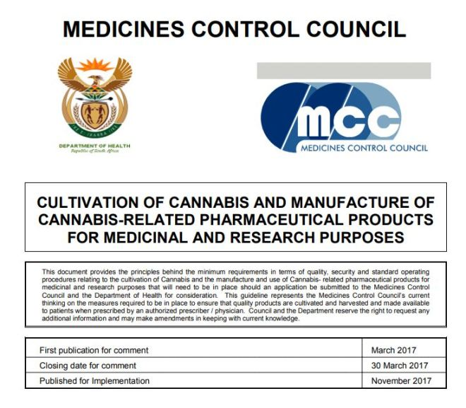 CULTIVATION OF CANNABIS AND MANUFACTURE OF CANNABIS-RELATED PHARMACEUTICAL PRODUCTS FOR MEDICINAL AND RESEARCH PURPOSES