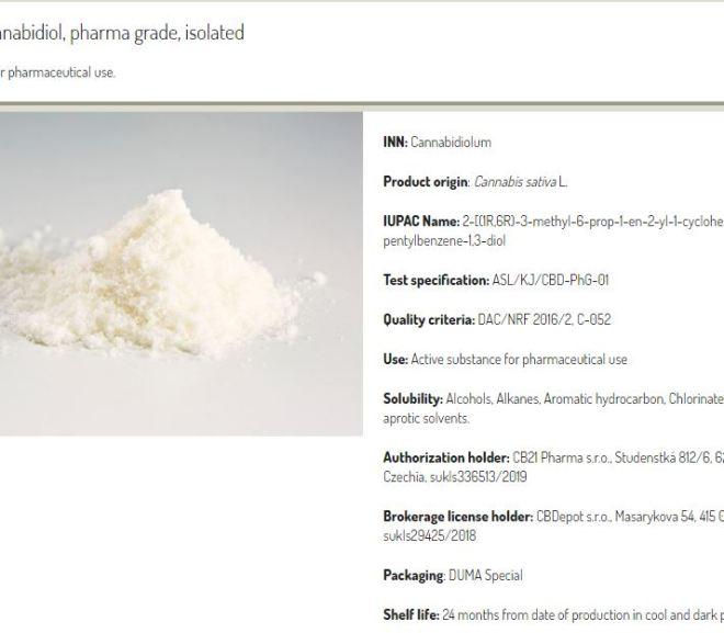 Cannabis: CBD Isolate Shelf Life: 24 month