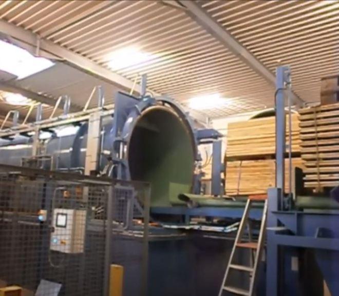 Wood impregnation plant (autoclave)