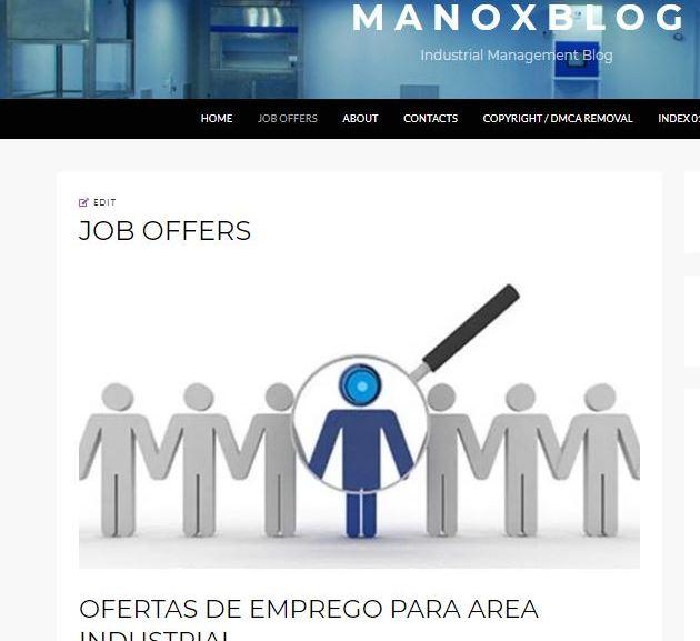 JOB OFFERS – OFERTAS DE EMPREGO AQUI NO MANOXBLOG