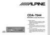Alpine CDA-7844 Car Receiver download instruction manual pdf