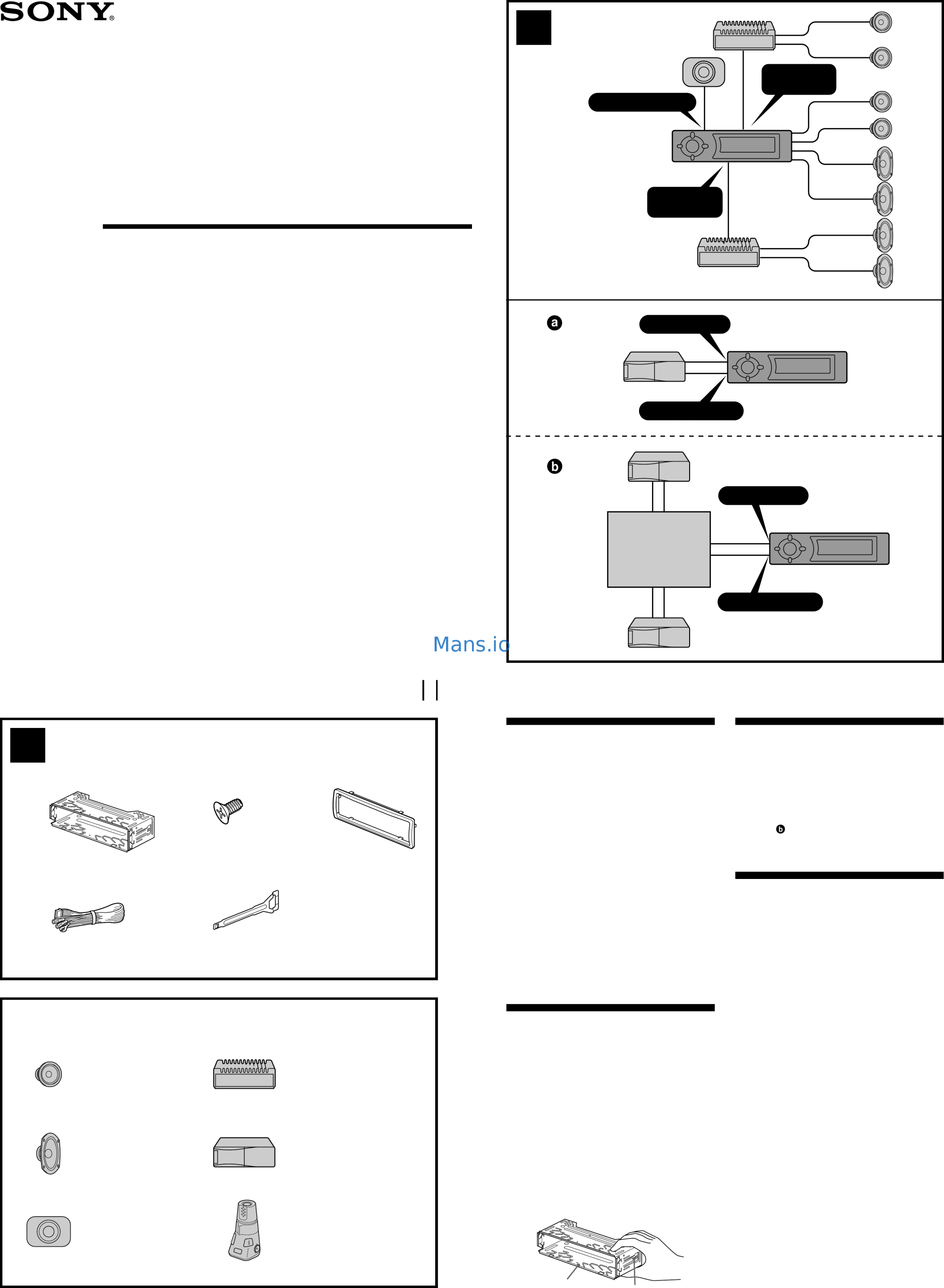 hight resolution of sony cdx fw700 installation connection instructions page 1 sony cdx fw700 wiring diagram