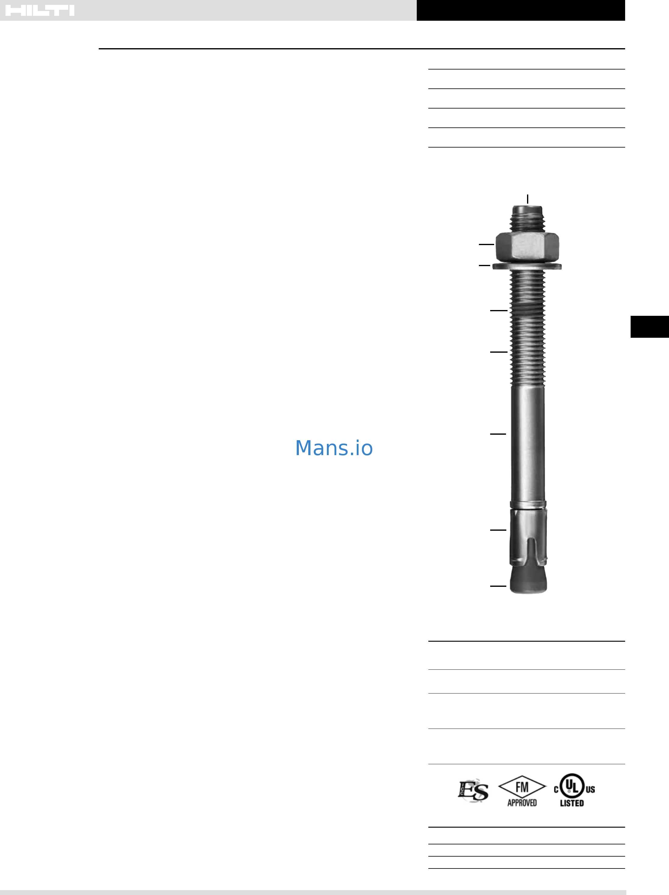Hilti Kwik Bolt TZ SS 304 Product Technical Guide Page: 2