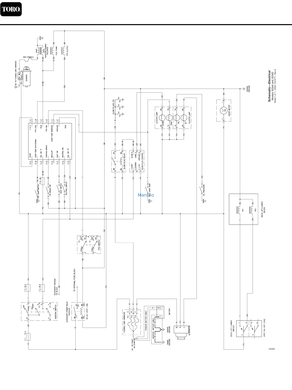 medium resolution of toro groundsmaster 3280 d 2wd 30344 schematic drawing electricaltoro groundsmaster 3280 d 2wd