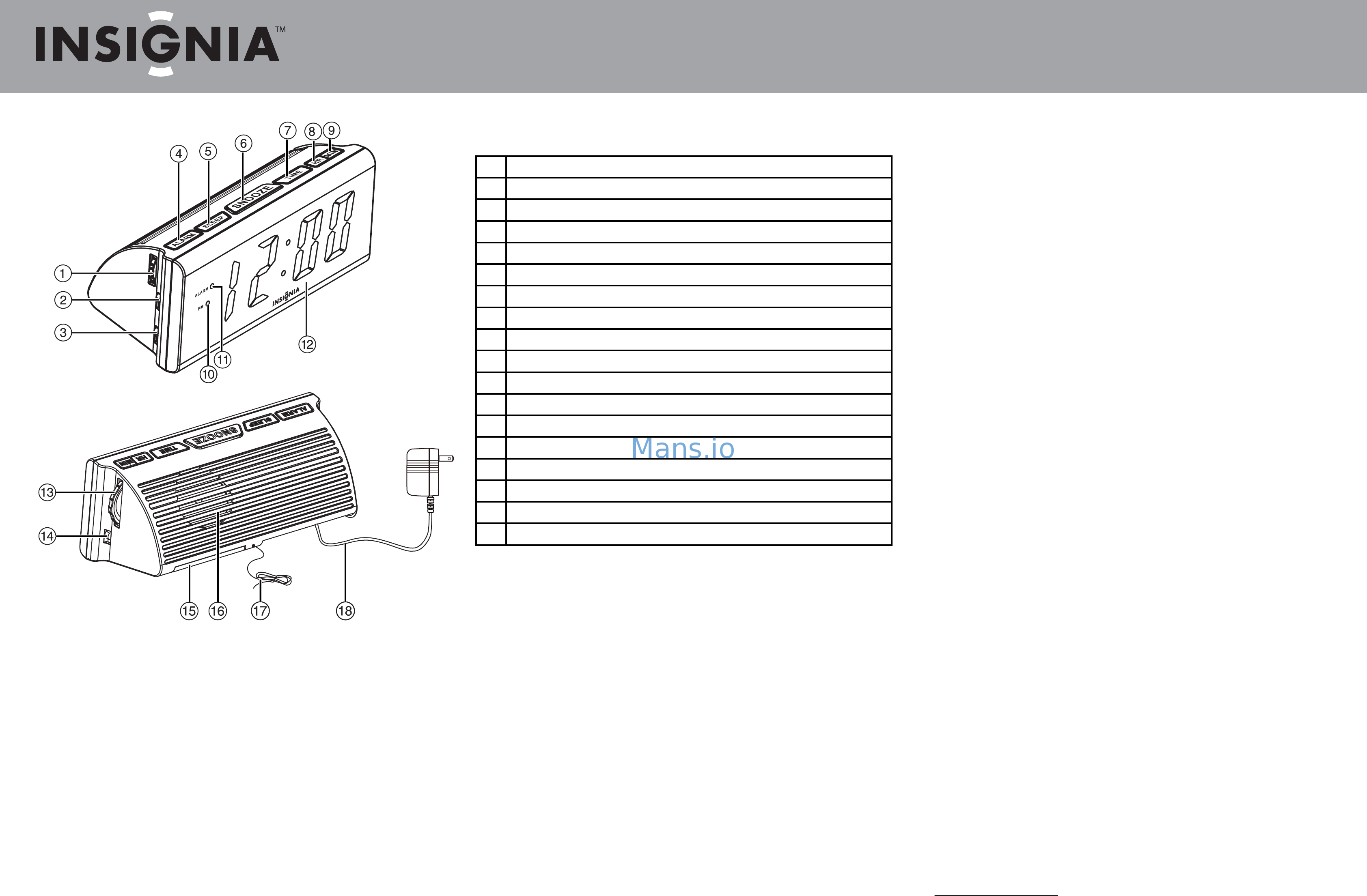 Insignia NS-CL1111 Quick Setup Guide Page: 1