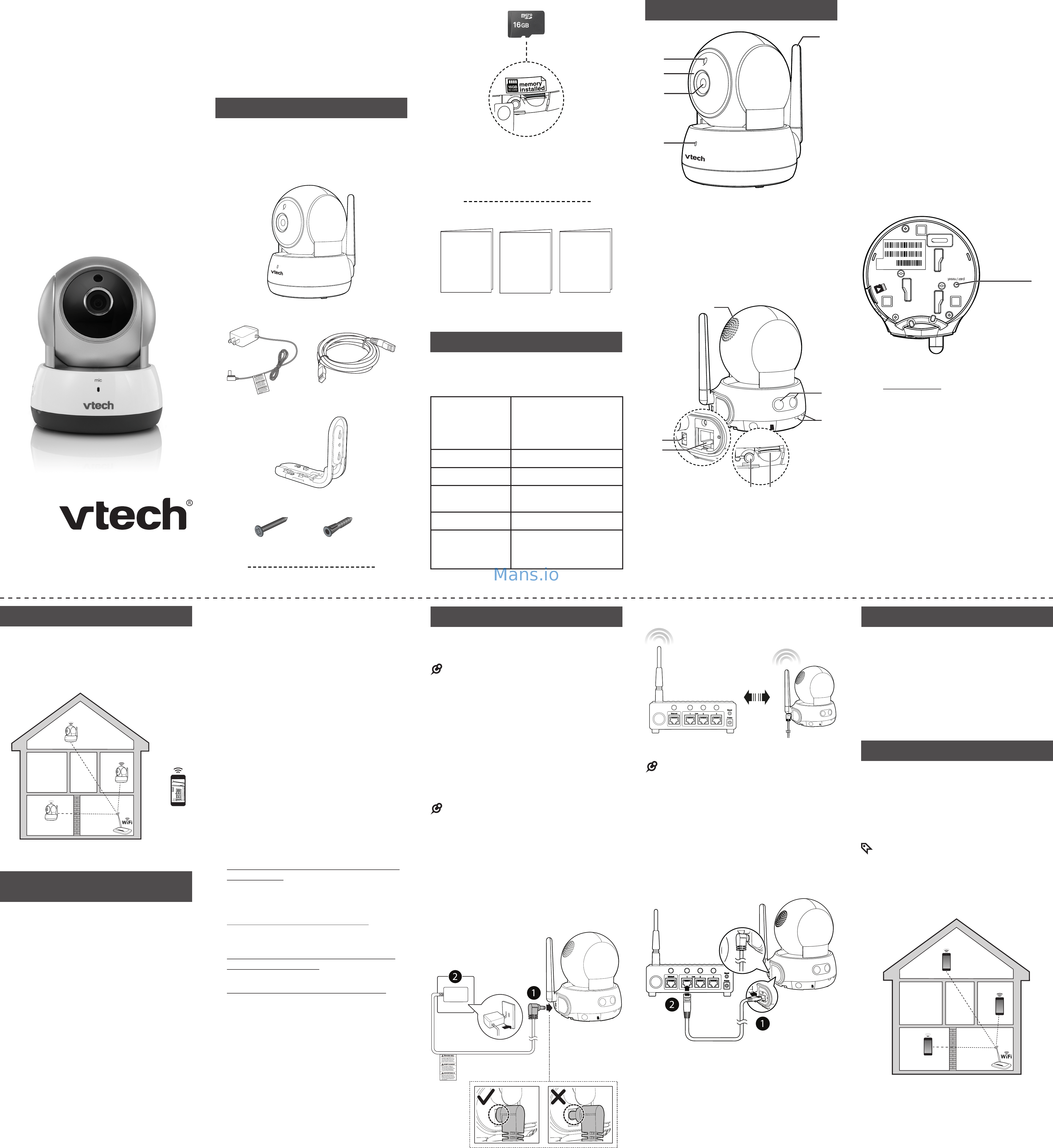 VTech VC931-12 User Manual Page: 1