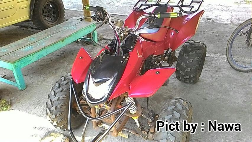 GokiiiiiiLL Modifikasi Honda Grand Jadi ATV Beroda 4