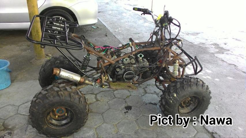 GokiiiiiiLL Modifikasi Honda Grand Jadi ATV Beroda 4