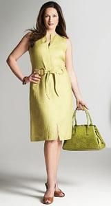 lime shift dress