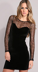 lace topped dress