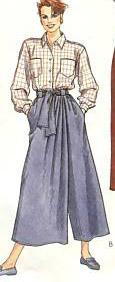 Long wrap culotte