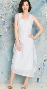 Wall blue dress