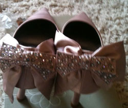 Pink silk shoes