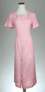 Pink linen Orvis dress