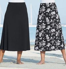 monochrome skirts