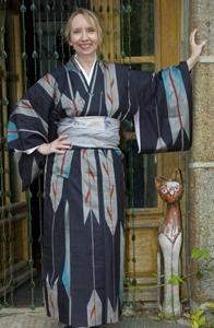 updo with kimono