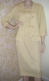 Lemon linen suit