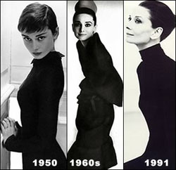 Audrey Hepburn three ages
