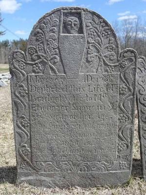 Ebenezer Snow gravestone