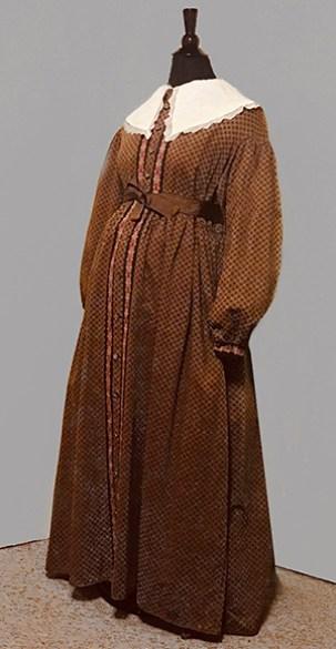 Brown Pregnant Housecoat