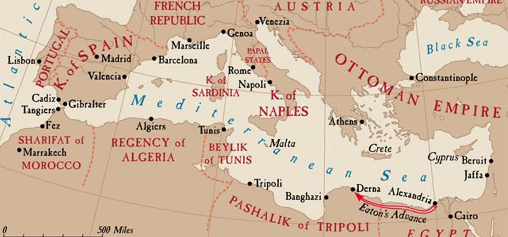 Map of the Barbary Coast