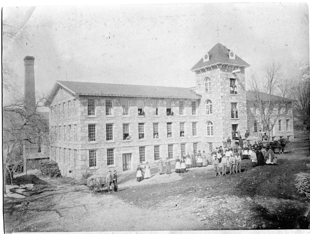 The National Thread Company stone mill building