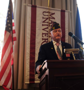 Thomas A. Brown, Pennsylvania Department of Veterans of Foreign Wars (VFW) State Commander, was the guest speaker at the Veterans Appreciation Luncheon.