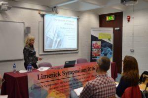 Michele Whitecraft presenting at the 2016 Limerick Symposium.