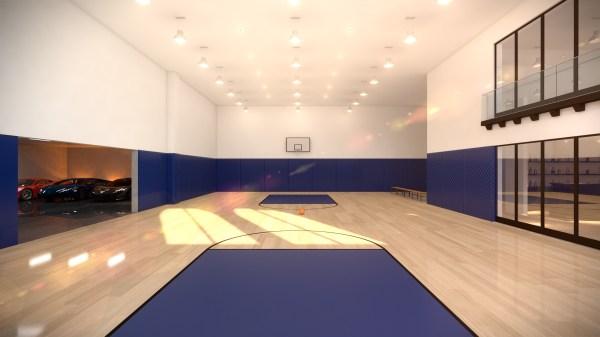 Los Angeles Indoor Basketball Court