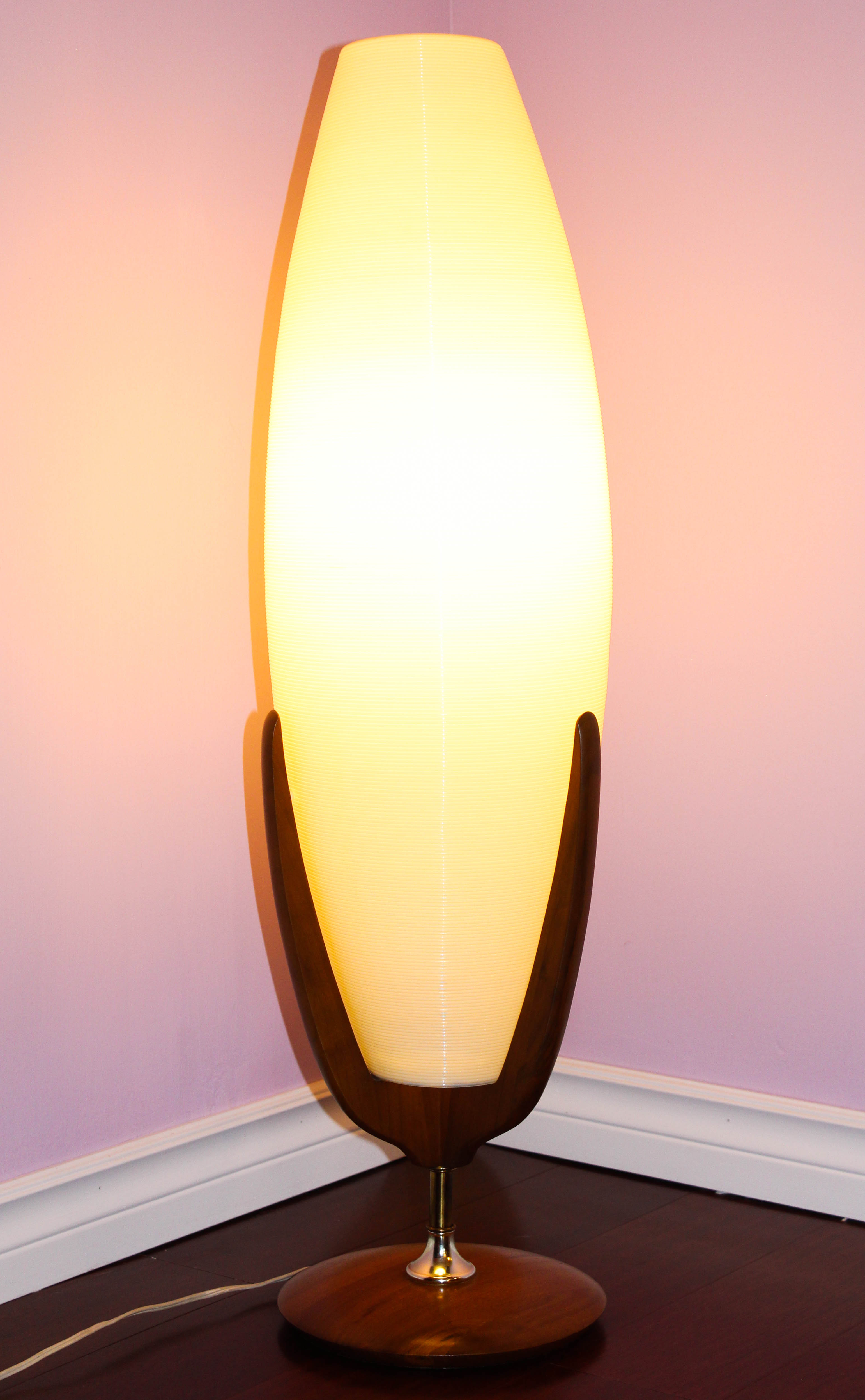 Retro Danish Mid Century Modern teak Atomic floor lamp