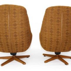 Swivel Chair Egg Wingback Recliner Retro Mid Century Armchairs Mansion Decor