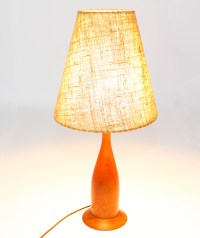 Danish Mid Century Teak Table Lamp | Mansion Decor
