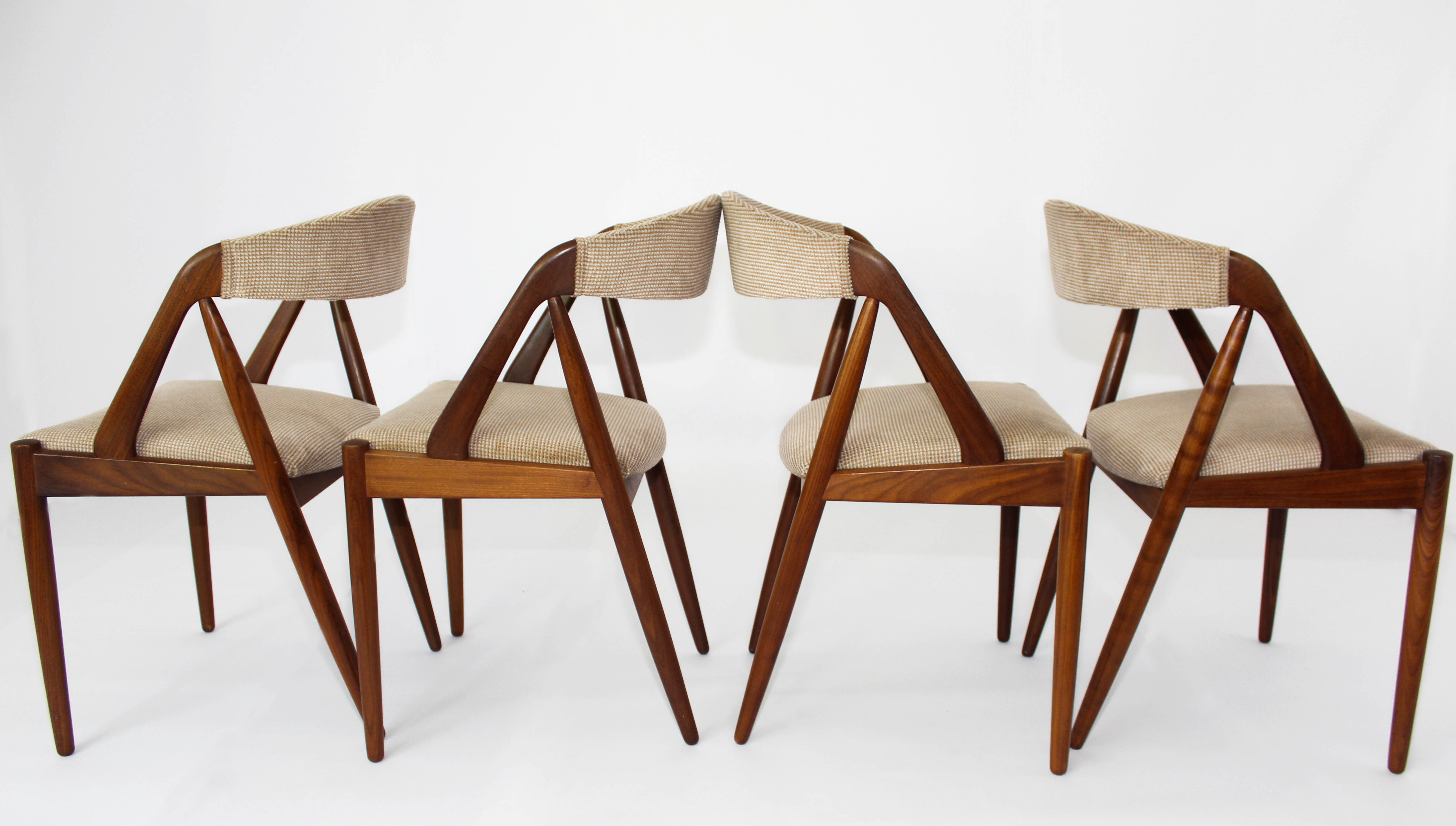 four chair dining set home office of 4 iconic kai kristiansen #42 rosewood teak chairs | mansion decor