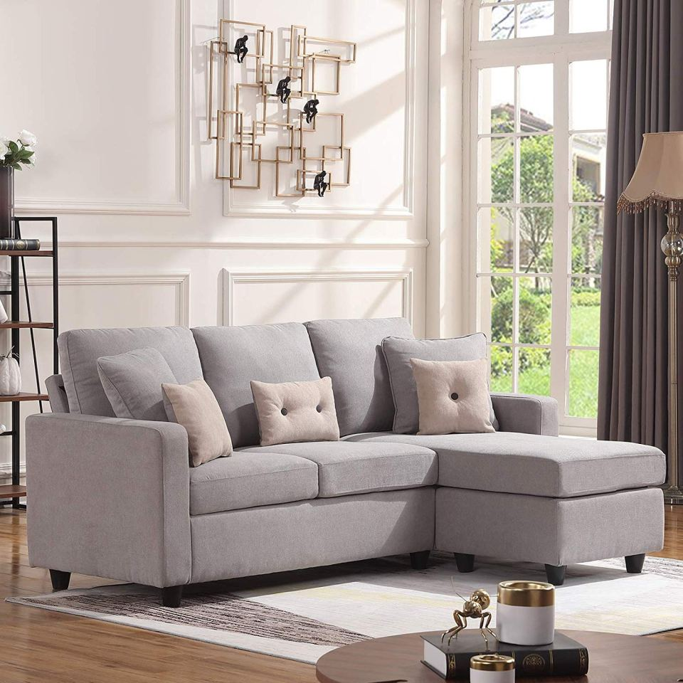 Review] HONBAY Convertible Sectional Sofa Couch, L-Shaped ...