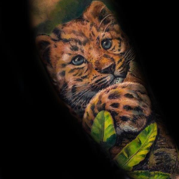 50 Cheetah Tattoos fr Mnner  groe Spotted Cat Design