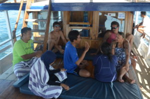 Retno and Miko give their first manta briefing