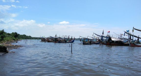 fishing boats in Pandean