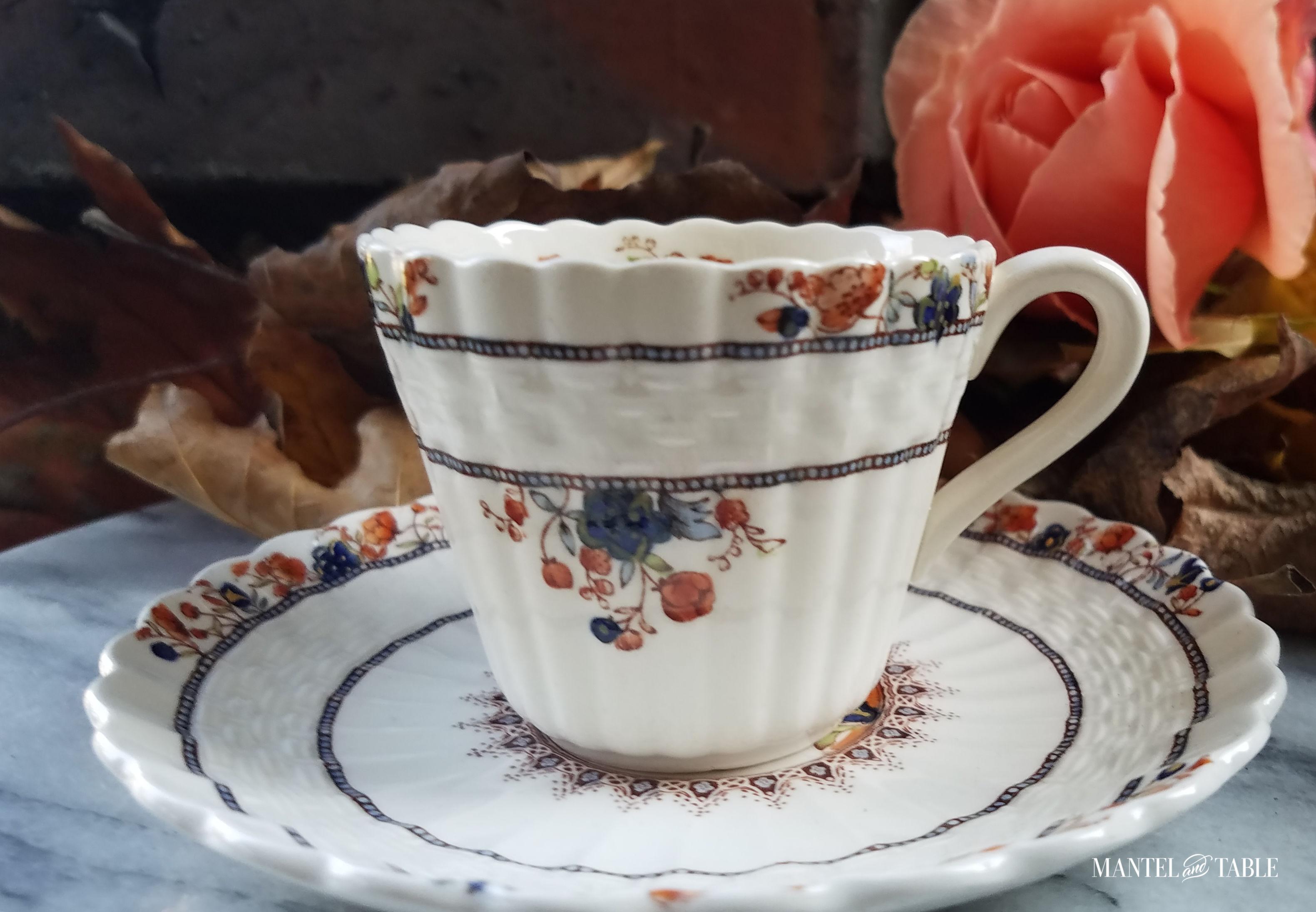 Teacup and saucer close up