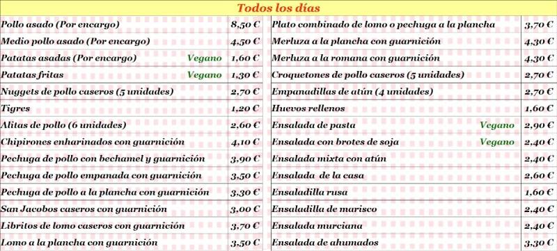 Restaurante comida para llevar diaria reparto domicilio Murcia comida vegana y vegetariana para llevar servicio a domicilio