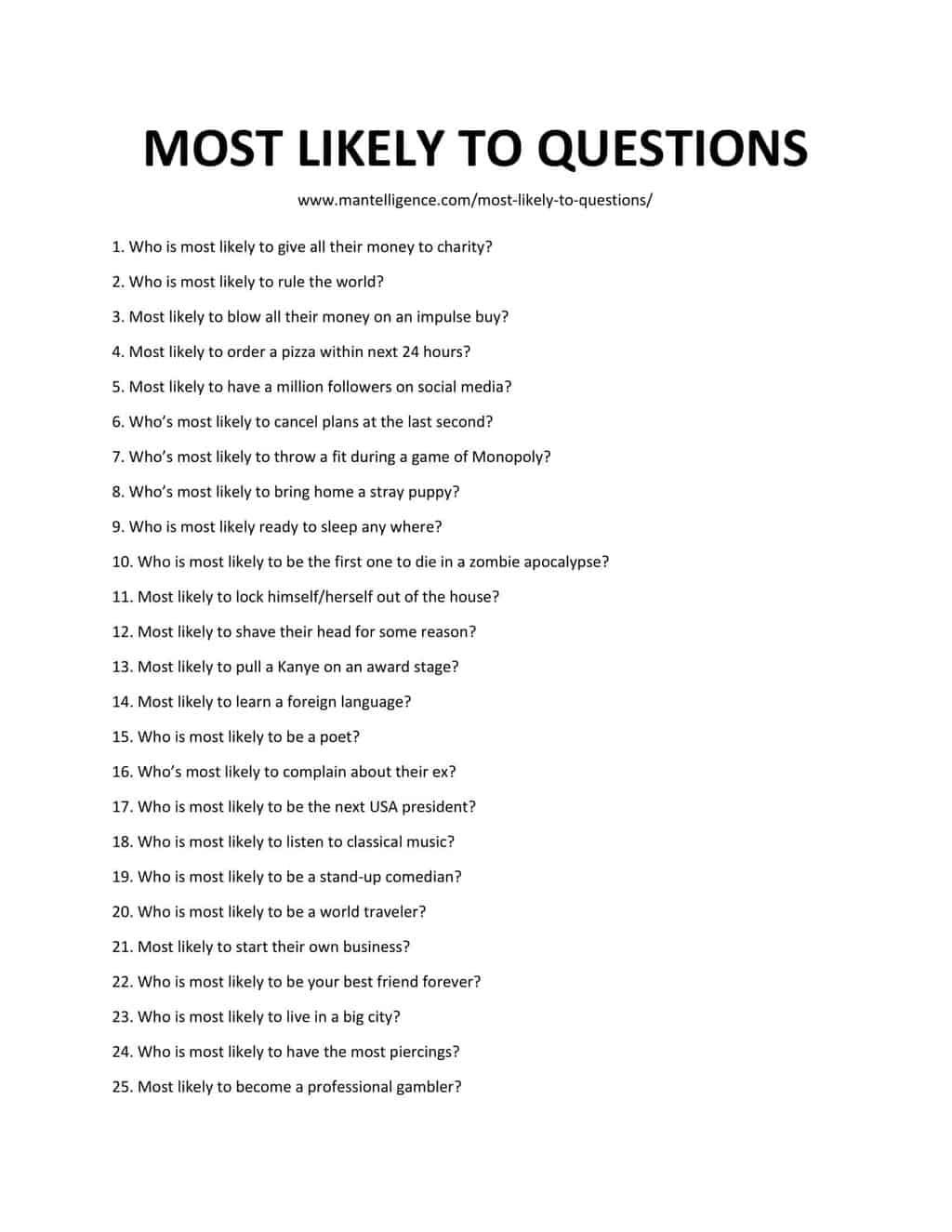 Paranoia Questions Adults : paranoia, questions, adults, Likely, Questions, Questions!