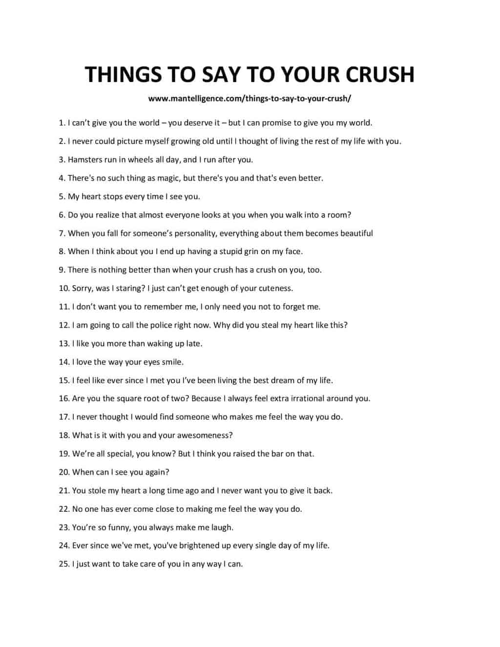 Something To Tell Your Crush : something, crush, Things, Crush, Need.