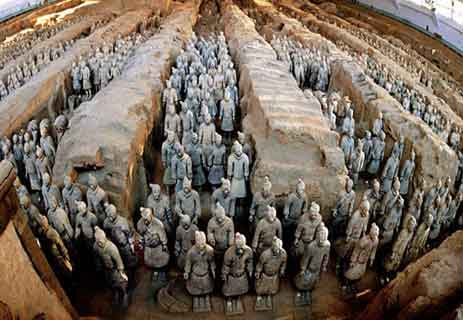 جيش تيراكوتا الصيني ؛ تشين شي هوانغ أول إمبراطور للصين ؛ عجائب الدنيا