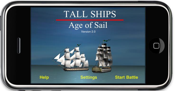 Tall Ships Main screen