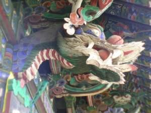 Dragon protector of the Buddha and the Dharma.