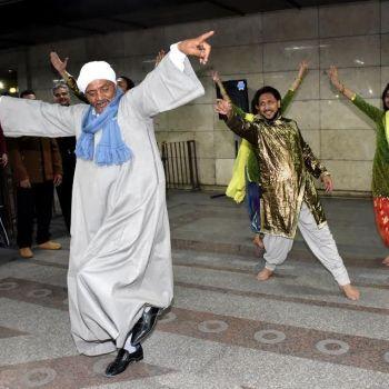 من حفل إطلاق حملة الهند بعد 70 عامًا من الاستقلال - تصوير: سمر فتحي