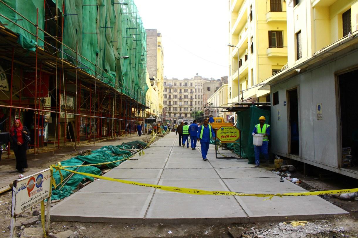 ممر الألفي أثناء عملية التطوير الأولى 2015- تصوير صديق البخشونجي
